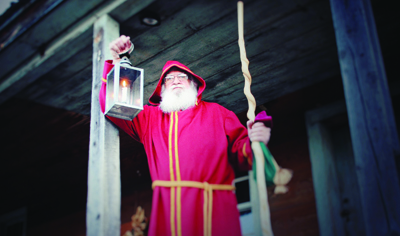 Father Christmas at the Frontier Culture Museum