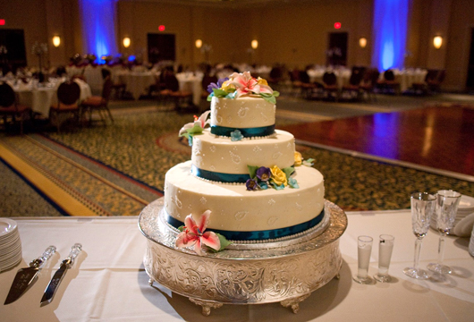 Stonewall Jackson Hotel wedding cake