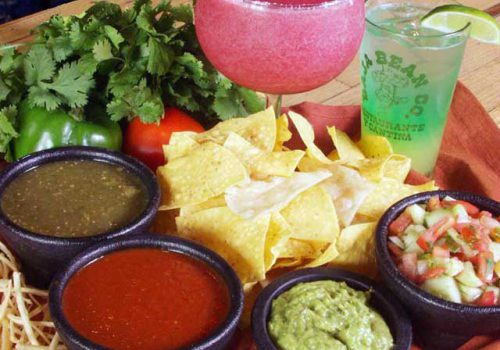 chips and drinks at Baja Bean